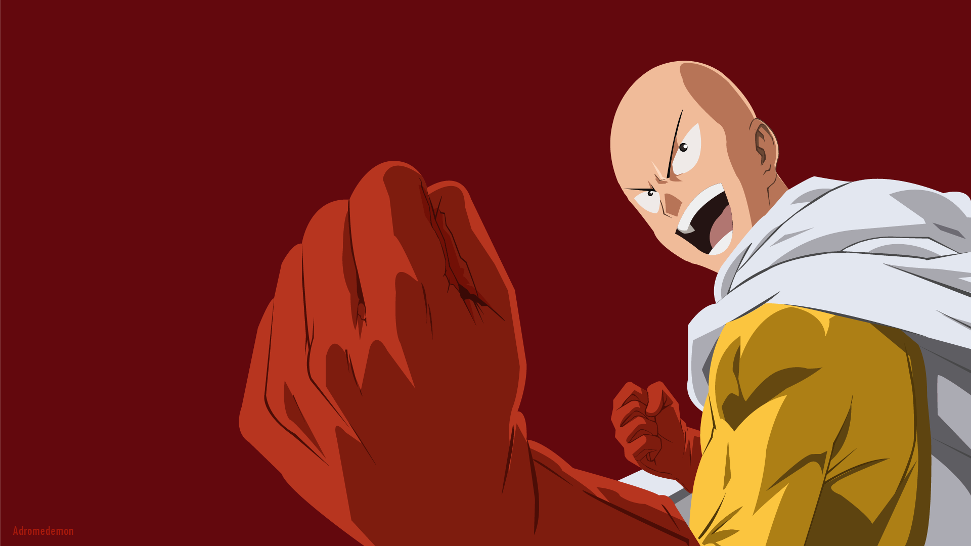 Saitama One Punch Man Hd Wallpaper From Gallsource Com Com