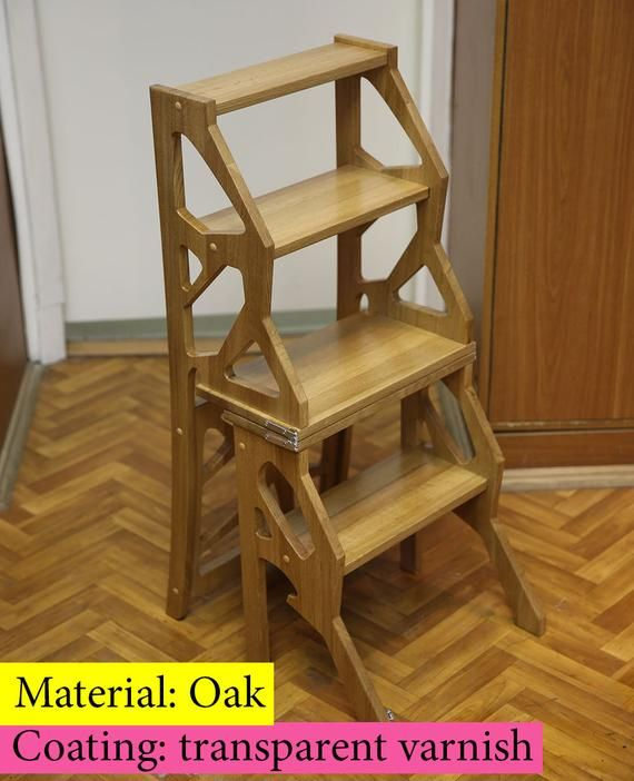 Step Stool Chair Chair Ladder Step Ladder Foot Stool Wood