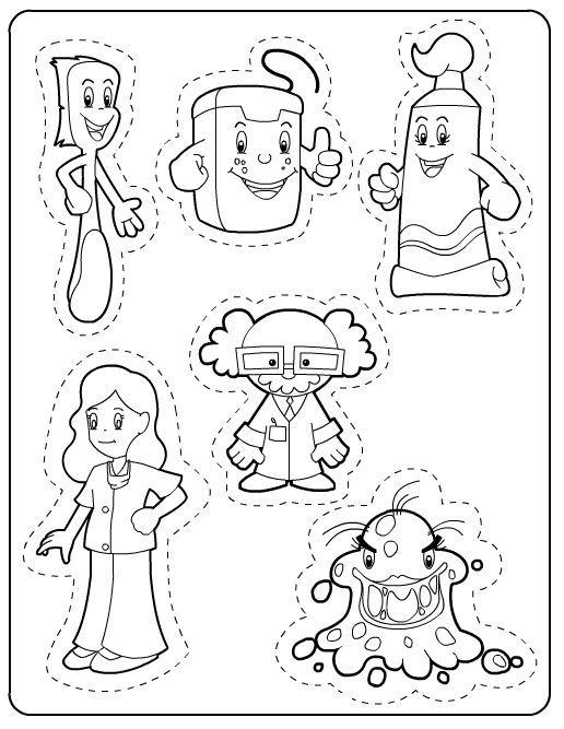 dentist preschool coloring | dental | Pinterest | Habitos de higiene ...