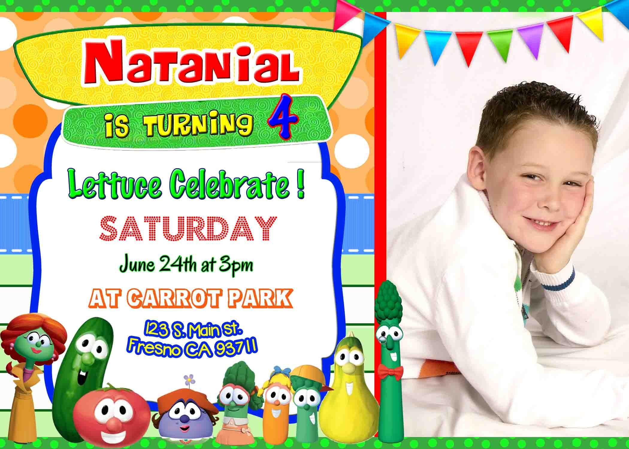 Veggie Tales VeggieTales Birthday Party Invitation Invite Bob and