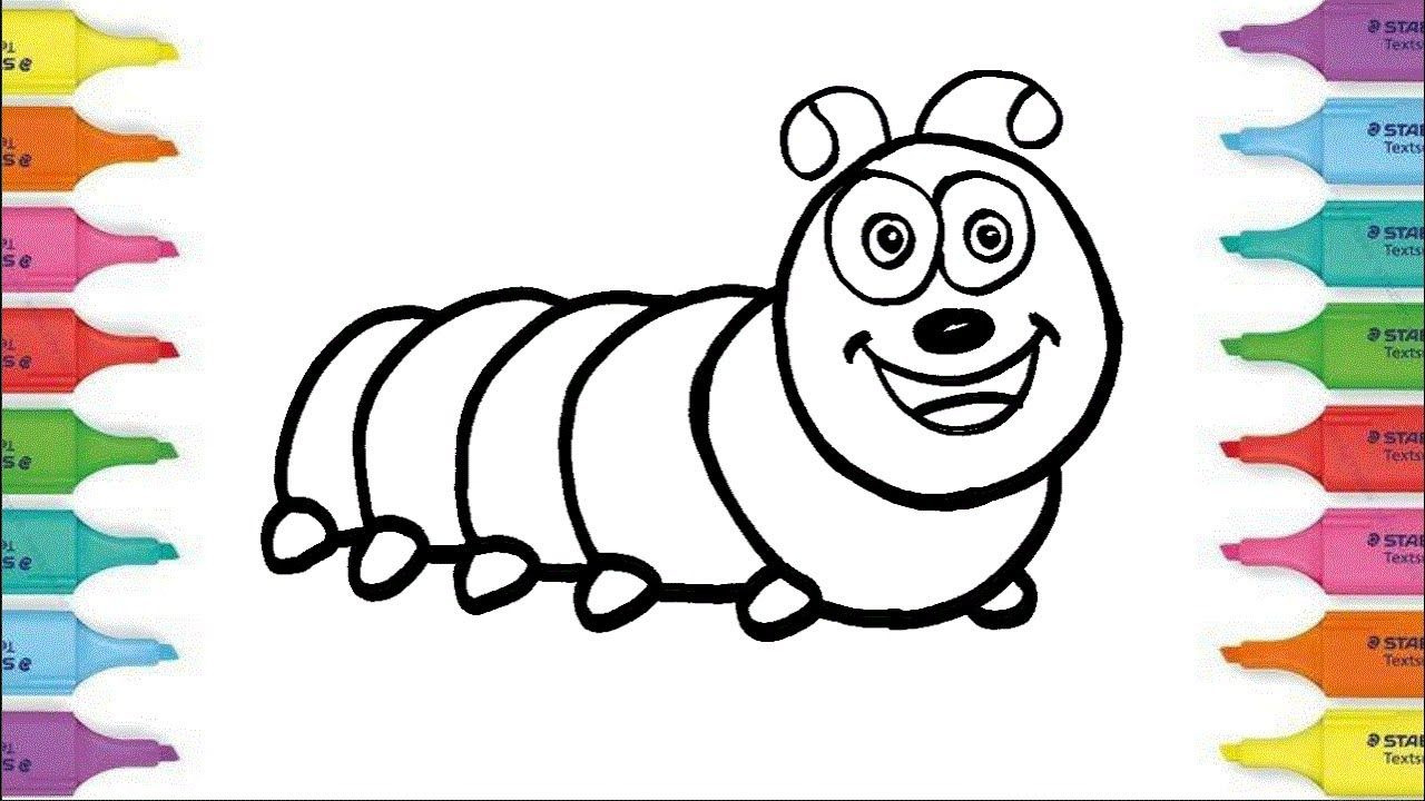 Como Dibujar Una Larva de Arco Iris | Dibujos Para Niños | Learn ...