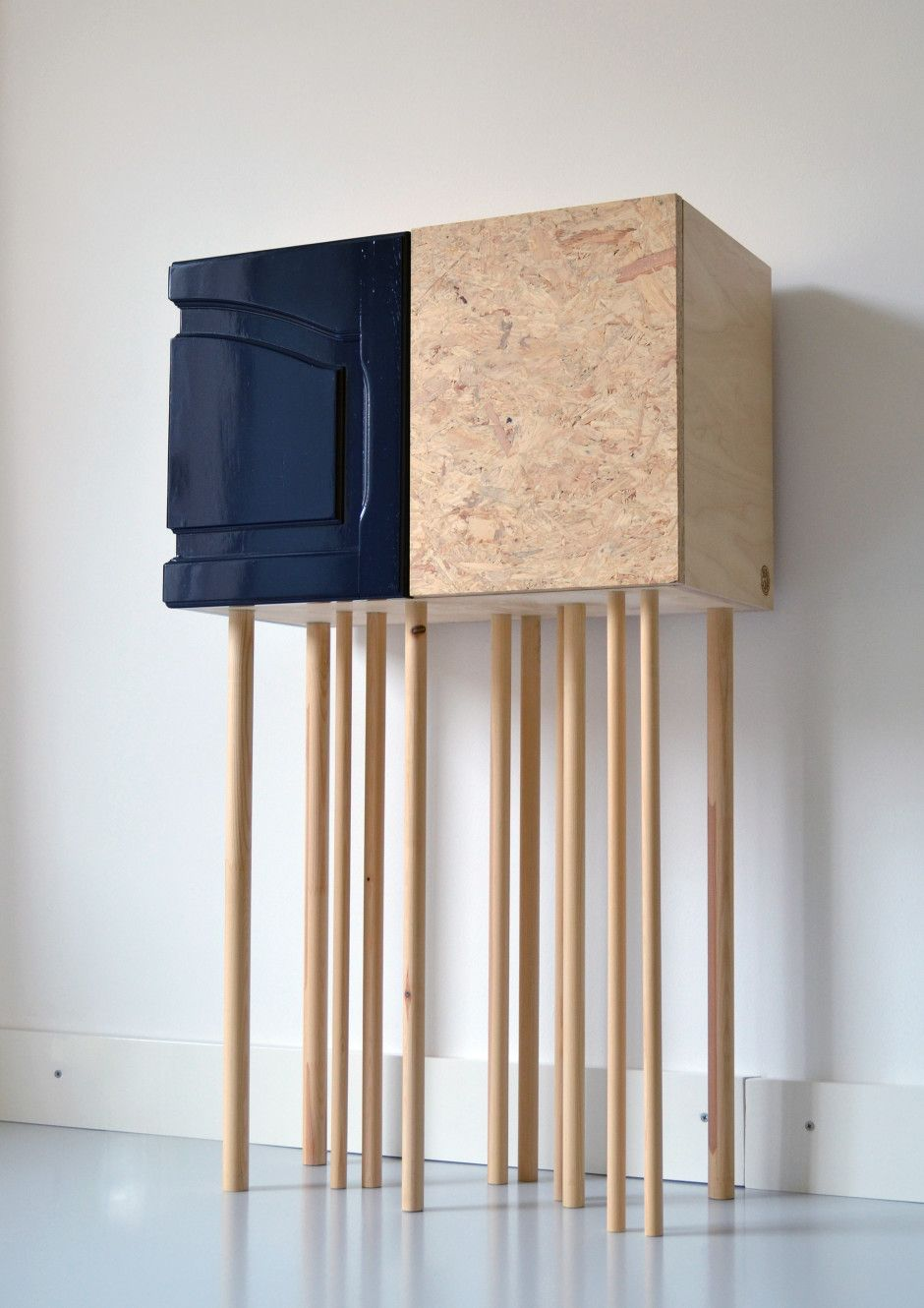 Holyscrap 44 High Legged Cabinet by Holyscrap handmade furniture made in The Netherlands on CROWDYHOUSE