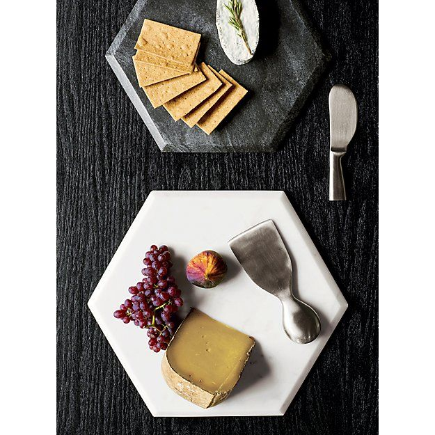 This Marble Hexagon Platter Is Perfect For Serving Appetizers Cheese Cured Meats And Even Sushi You Ll Be The Ho Hexagon Platter Marble Board Black Marble