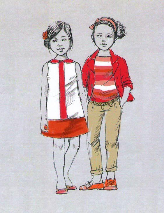 Рисунок модные дети