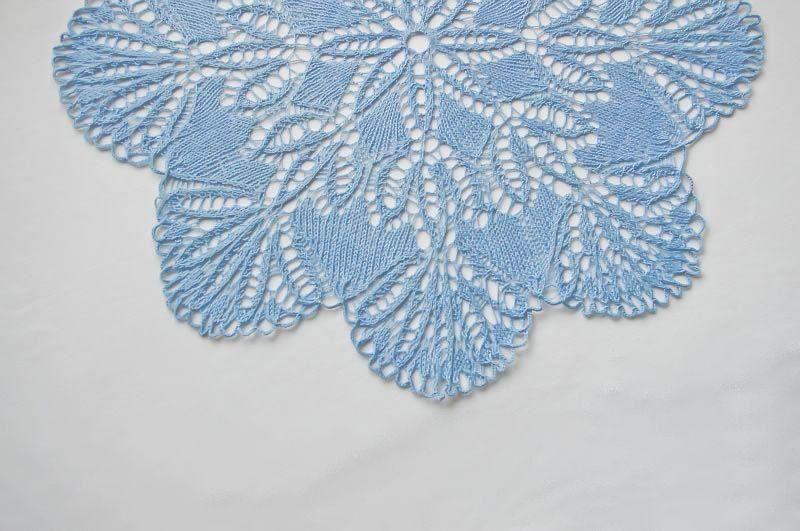 Blue cotton doily: blue handmade cotton knitted doily flower. $23.00, via Etsy.