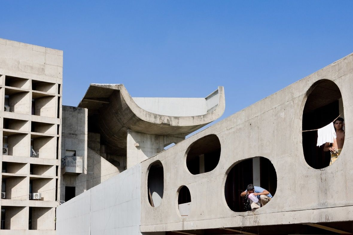 Chandigarh Legislative Assembly Building By Le Corbusier 1955
