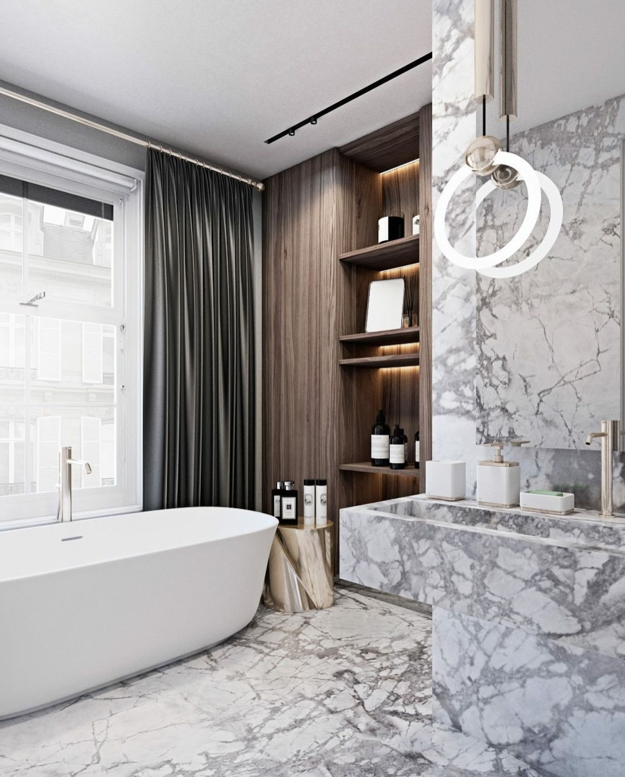 Contemporary Luxury Bath Avec Images Idee Salle De Bain Idee