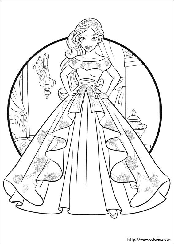 Princess Elena Of Avalor Colouring Page Princess Coloring Pages