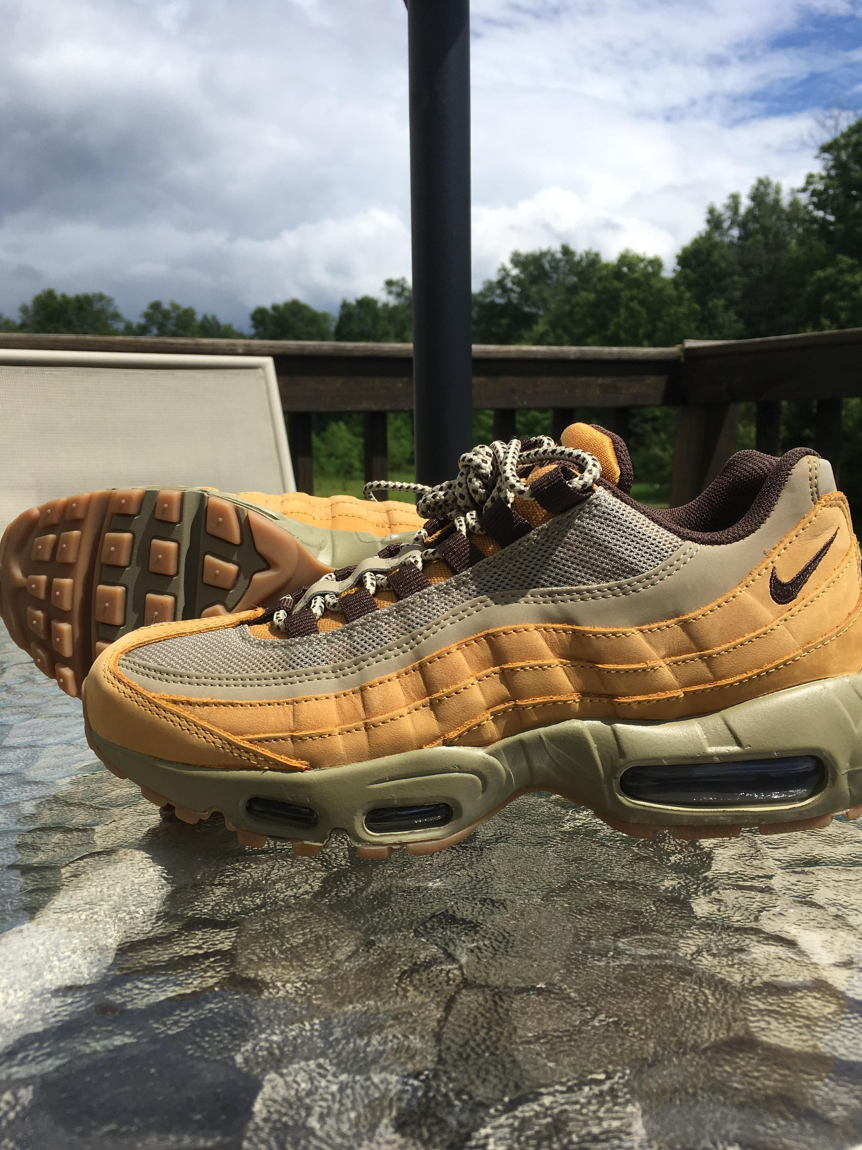 52552a591bf7 Nike Womens Air Max Thea Trainer  Just copped these Wheat Air Max 95s at  Marshalls ...