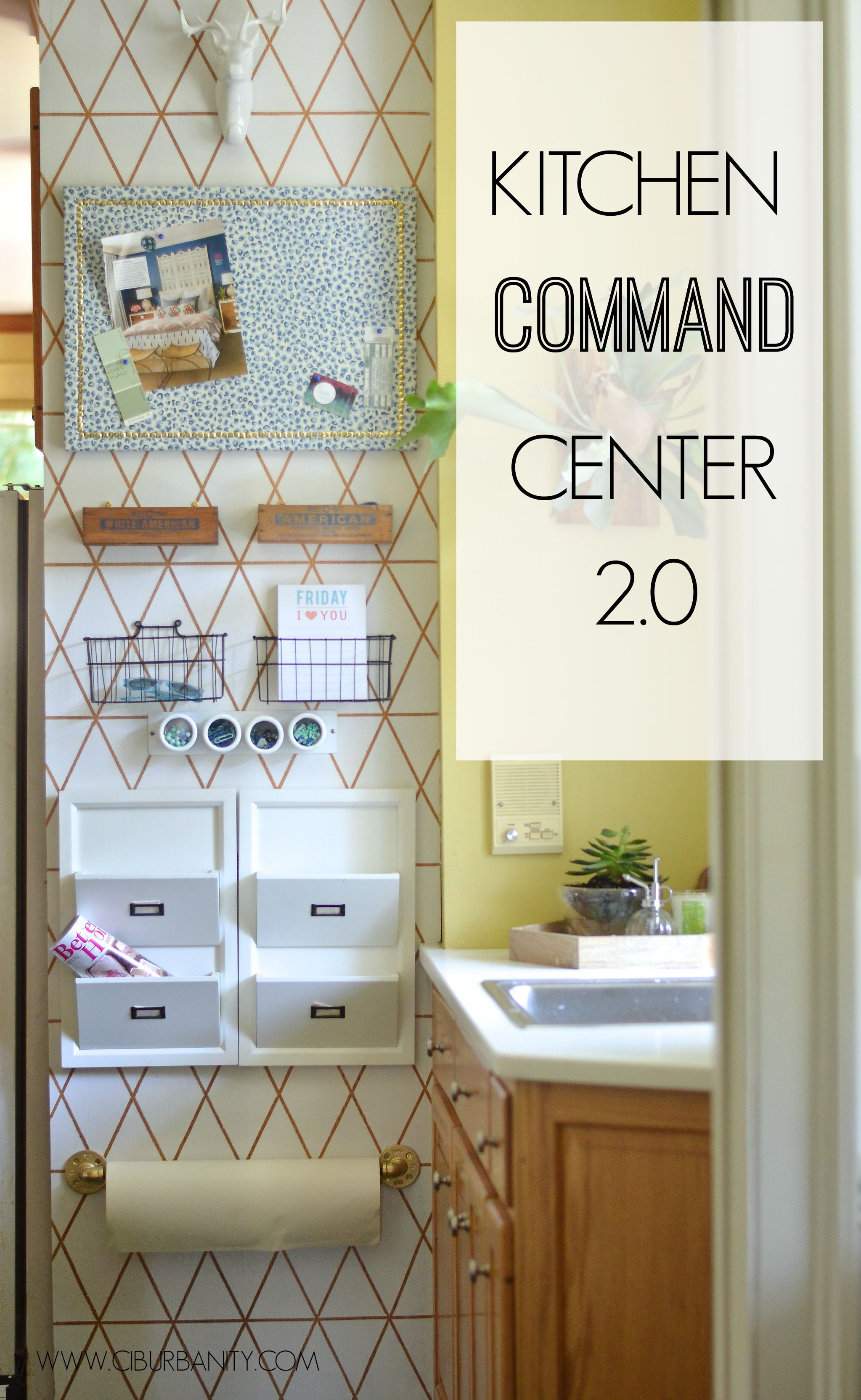 Awesome DIY Family Command Centers. Kitchen Command CentersFamily Command  CenterOrganized ...