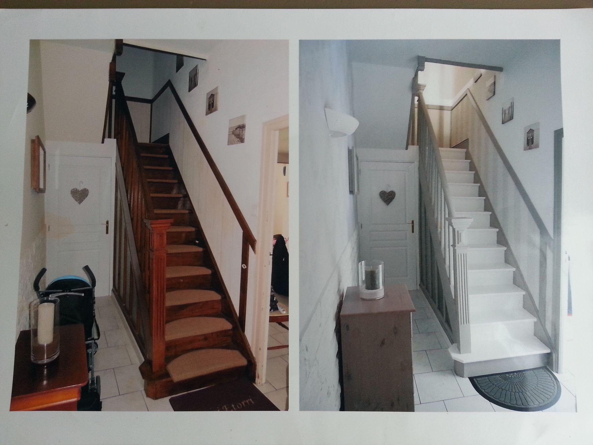 escalier eleonore deco deco pinterest peindre escalier bois eleonore deco et escalier bois. Black Bedroom Furniture Sets. Home Design Ideas