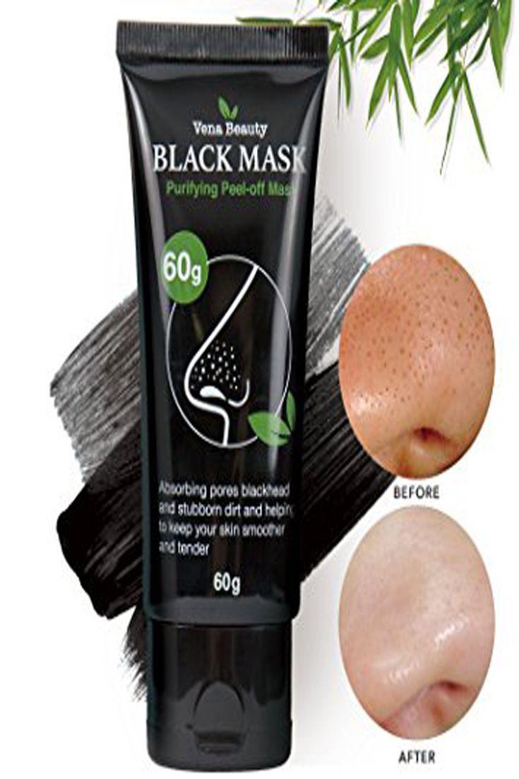 Vena Beauty Blackhead Remover Black Mask- Purifying Peel-off Mask Deep Cleansing 60g White Lucent Brightening Moisturizing Cream W 1.7oz