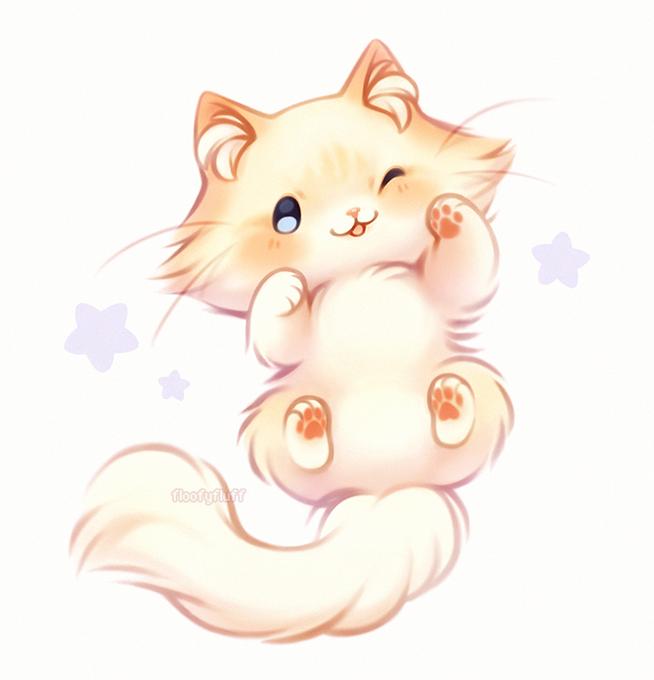 Pin By Kosmos On Floofyfluff Cute Animal Drawings Kawaii Kawaii Drawings Cute Art