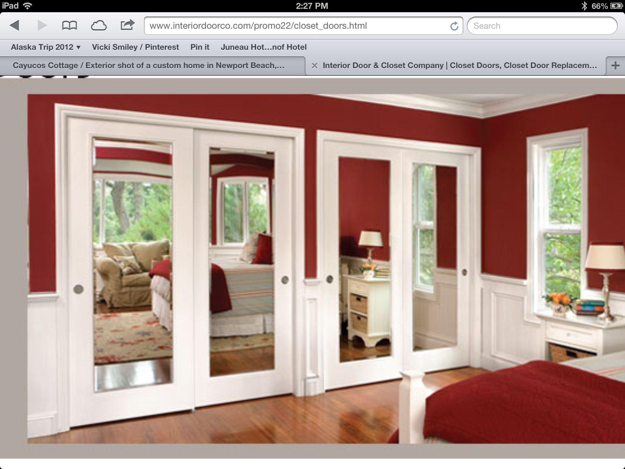master bedroom closet mirror doors | home ideas | pinterest
