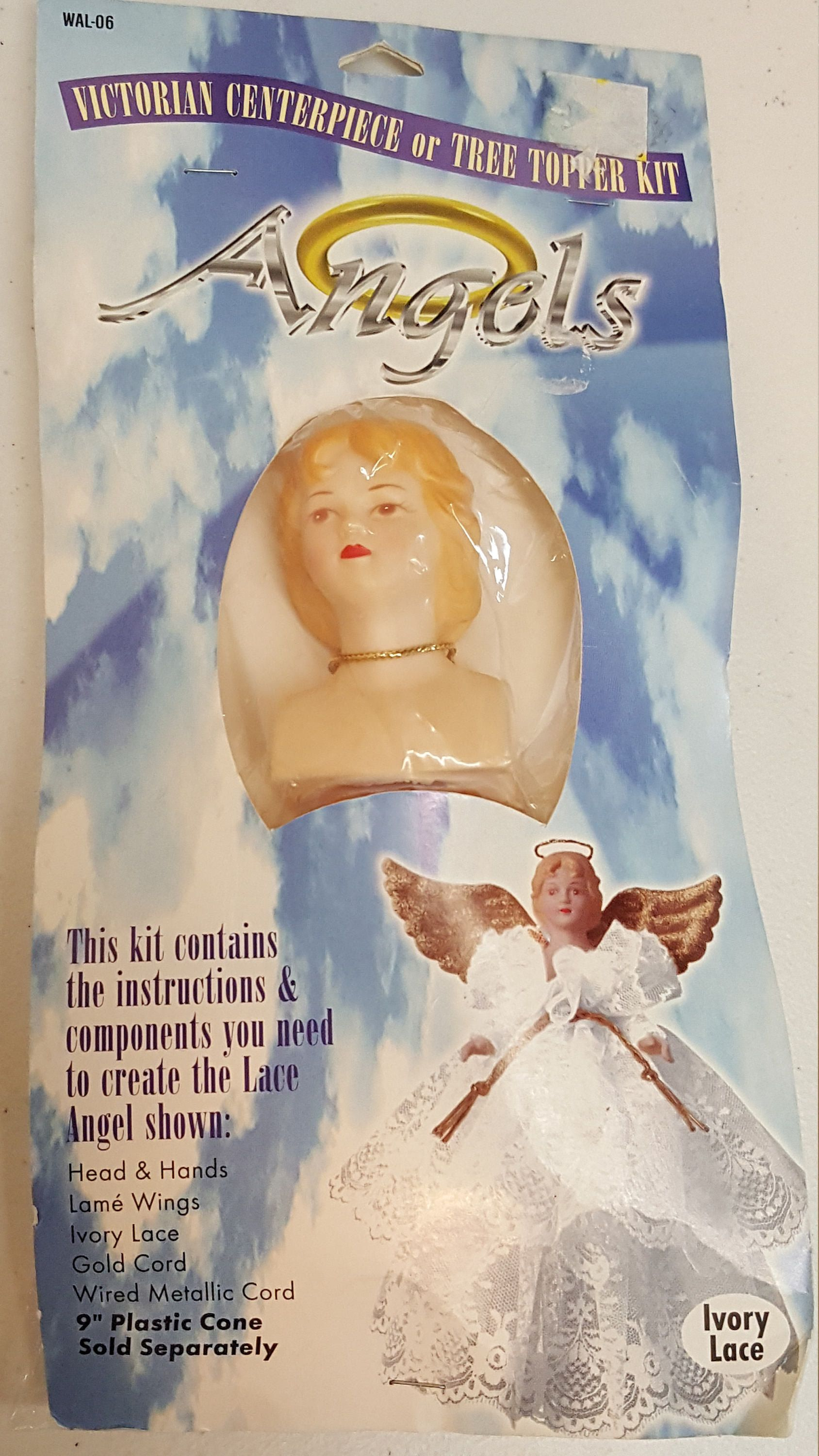 Diy Victorian Angel Tree Topper Kitivory Lace Etsy Christmas Diy Kit Victorian Angels Christmas Tree Toppers
