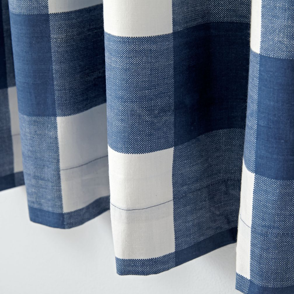 Blue Buffalo Check Curtain | The Land Of Nod More