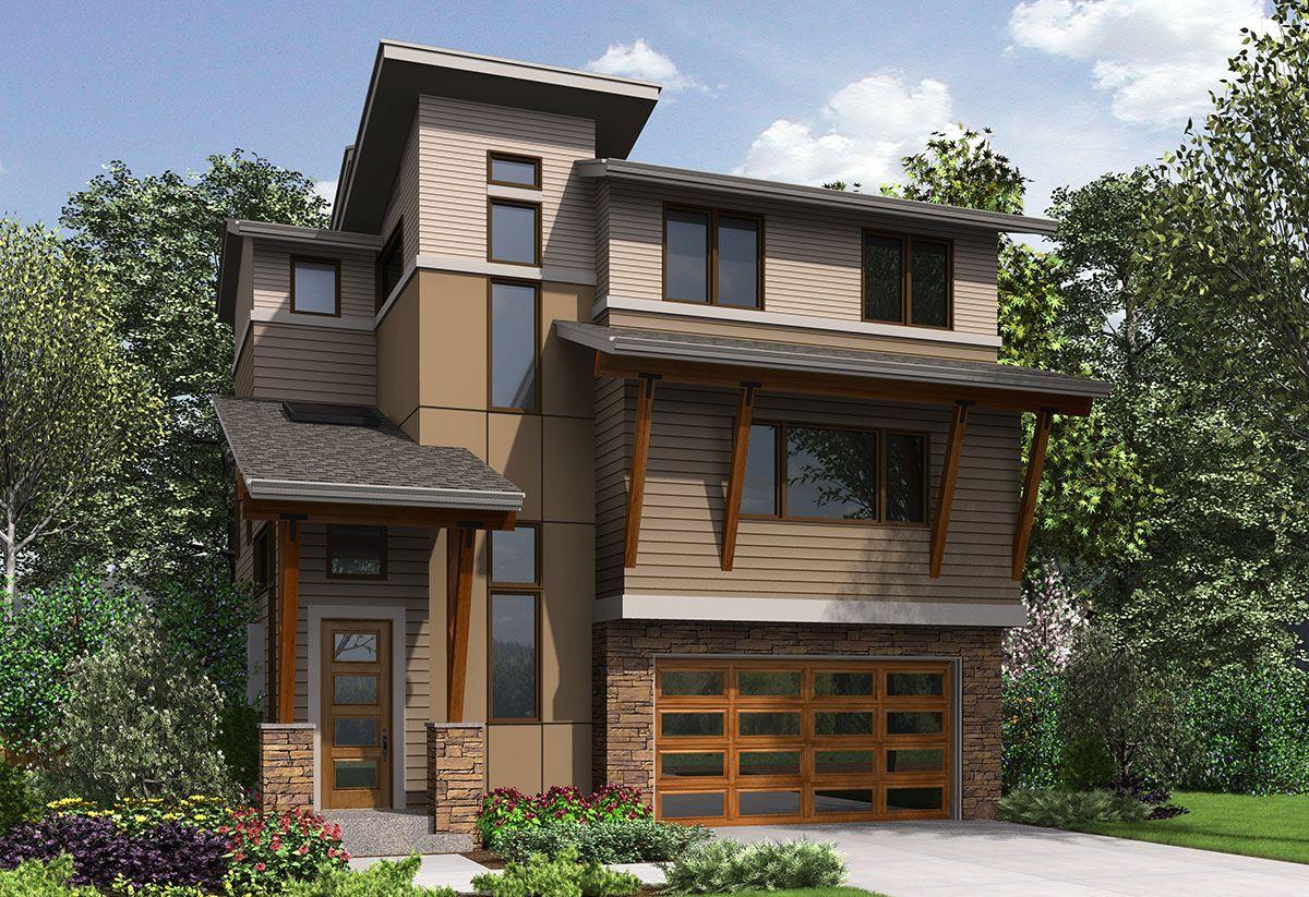 Plan 23618JD Eye Catching Northwest House Plan Narrow
