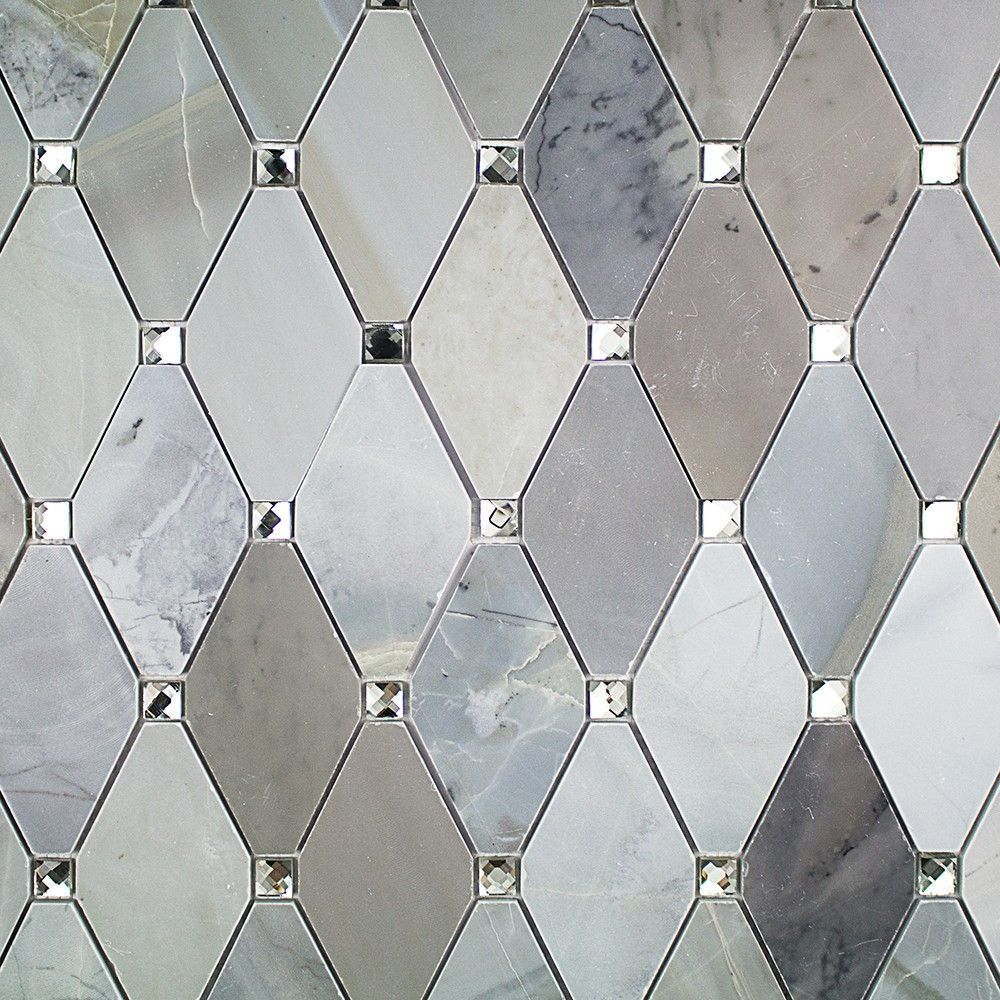 Reflection Diamond Moonstone Marble & Mirror Glass Tile | Pinterest ...