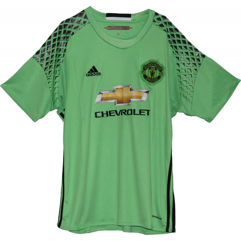 Manchester United Goalkeeper Jersey For The 2016 17 Season Green Color Fan Version Manchester United Fans Manchester United Manchester United Players