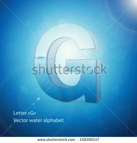 Water alphabet on blue background vector letter g alphabets water alphabet on blue background vector letter g thecheapjerseys Images