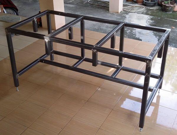 Free Diy Homemade Metal Workbench Plans Metal Work Bench Steel Workbench Workbench