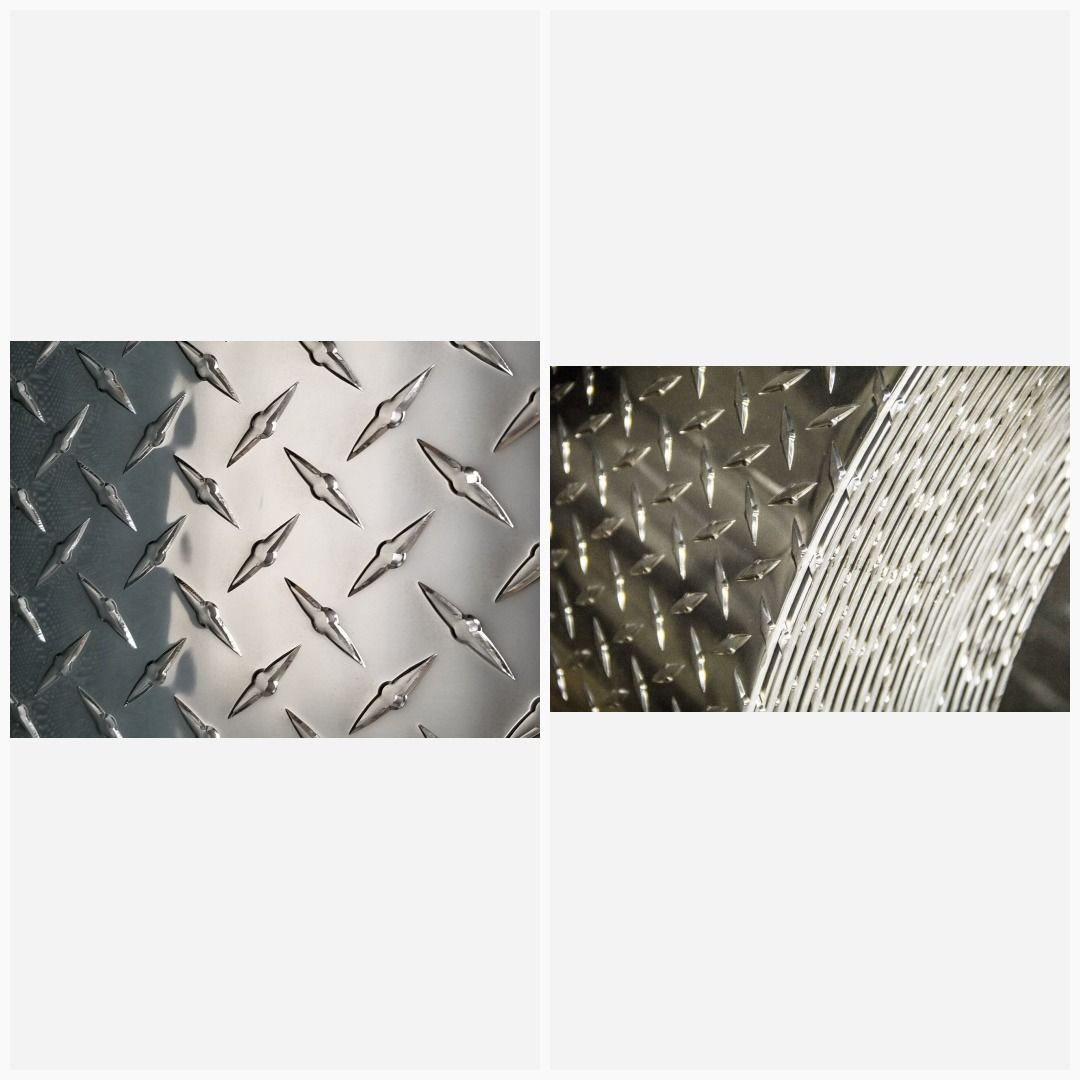 ".125 1//8/"" Aluminum Diamond Plate Sheet Plate 4/"" x 4/"" set of 4"