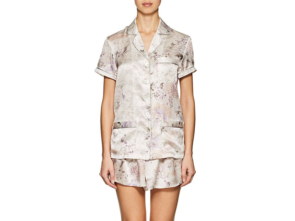 Womens Penelope Floral Silk Charmeuse Pajama Top Raven & Sparrow by Stephanie Seymour For Sale Cheap Real Eastbay zDOgs2
