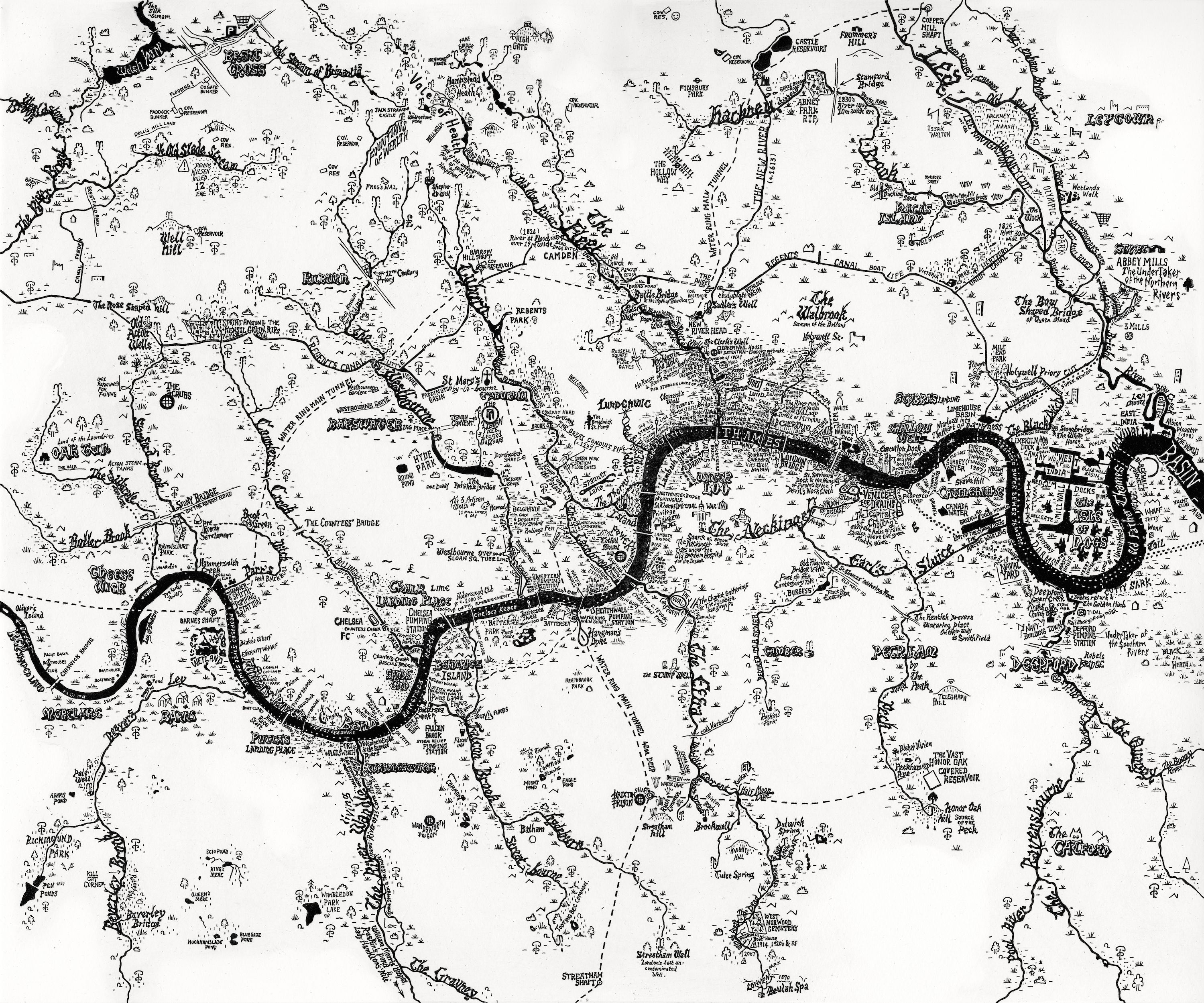 rivers of london amazing hand drawn map by stephen walter oh to 19th Century British Portraits rivers of london amazing hand drawn map by stephen walter