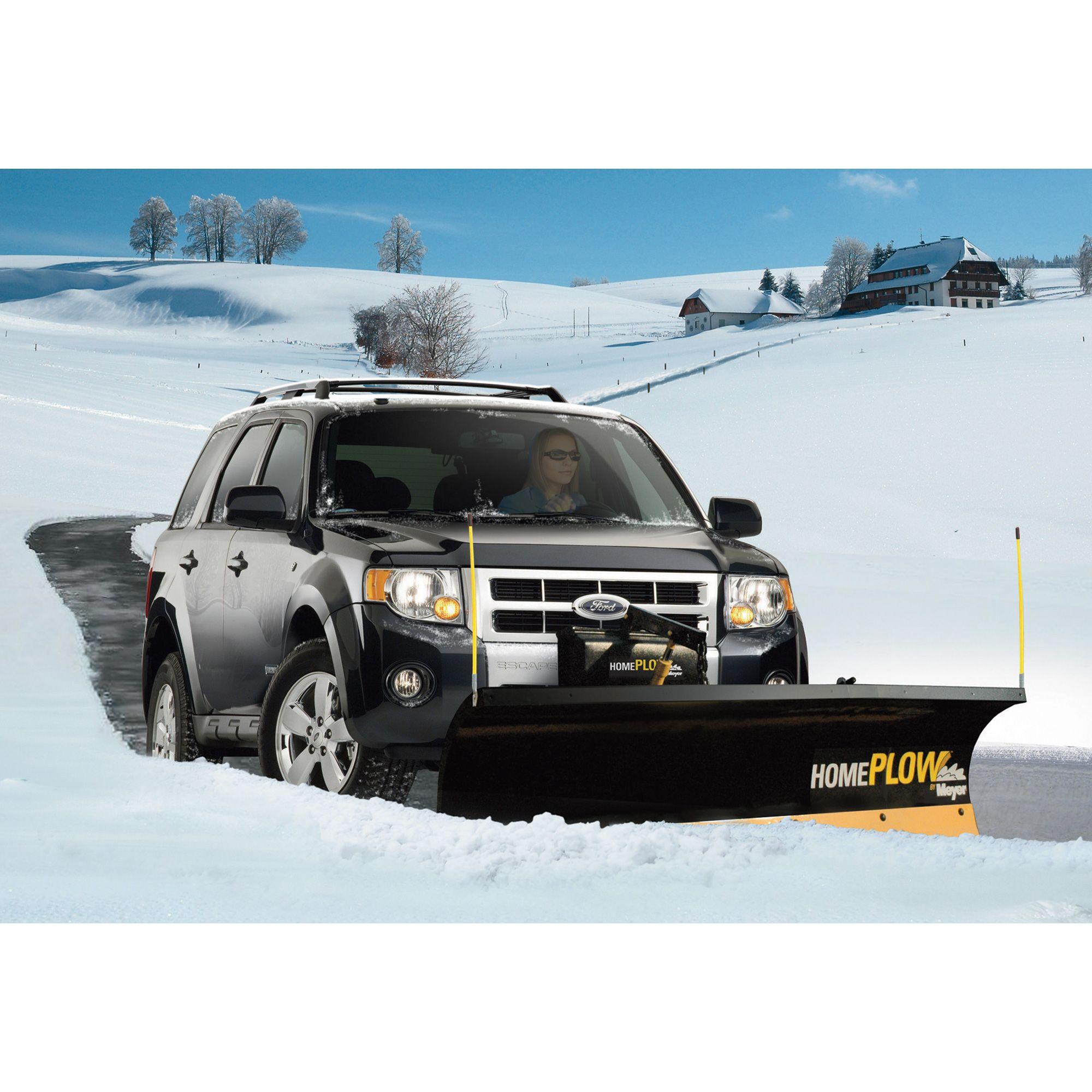 Home Plow By Meyer Snowplow Auto Angling 80in Model 25000 Snow Plow Snow Plow Truck Pickup Trucks