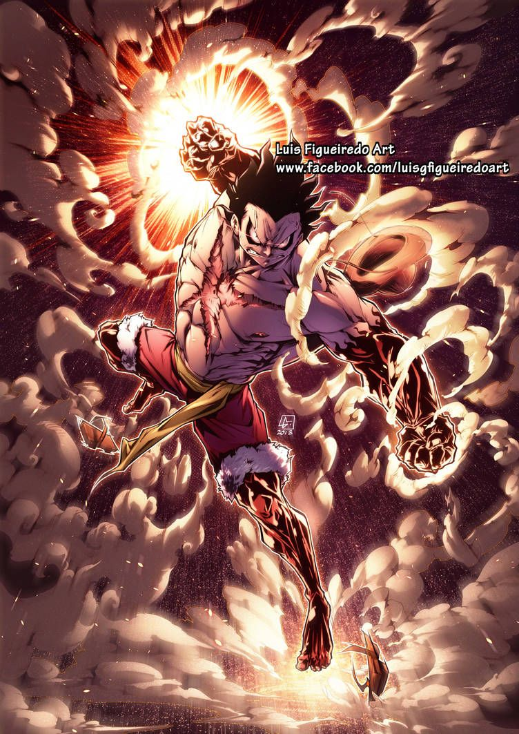 Luffy Gear 4 Snakeman From One Piece By Marvelmania One Piece Images One Piece Drawing One Piece Manga