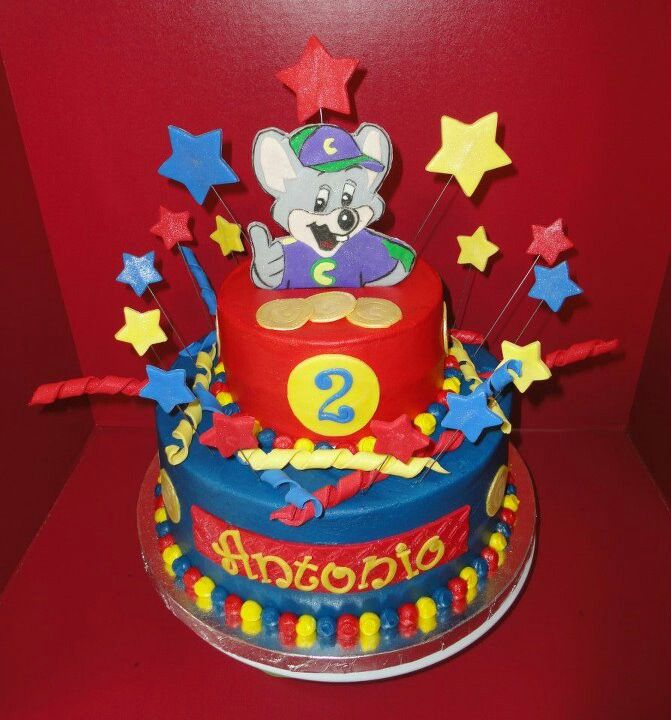 Chuck E Cheese theme birthday cake Happy Birthday Antonio Cakes