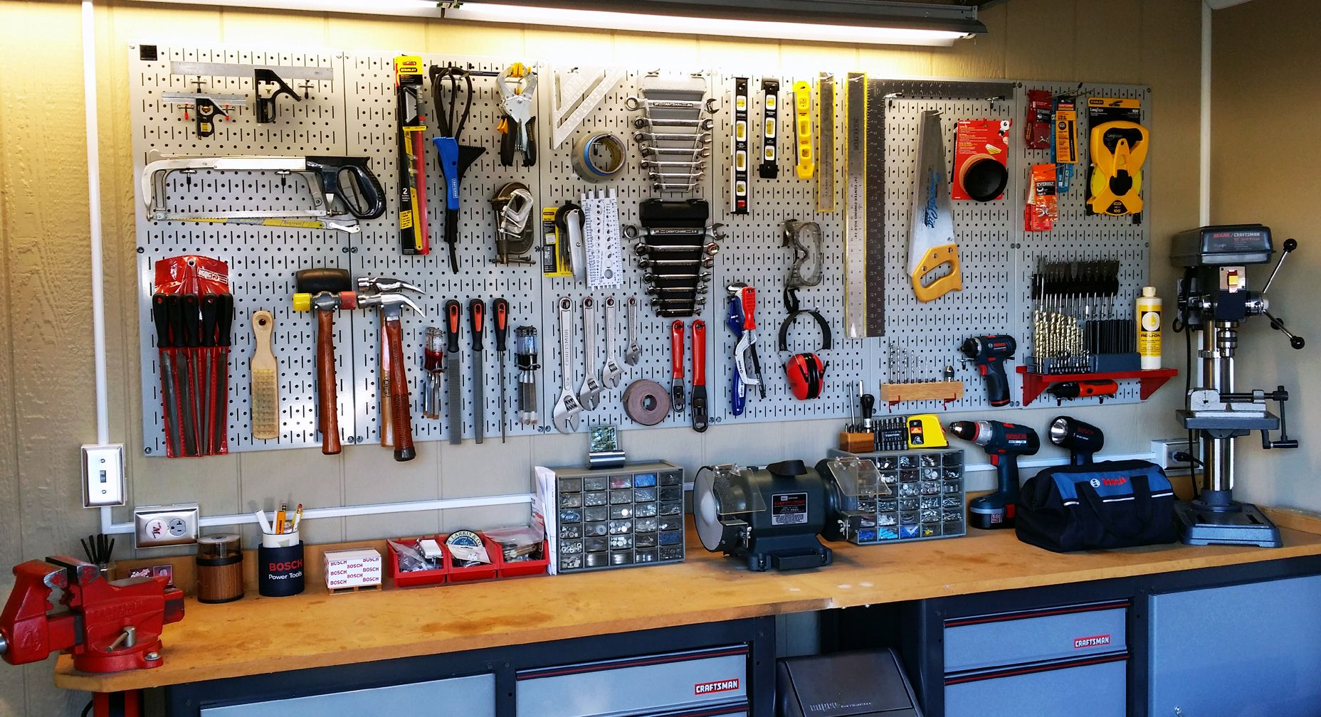 A Neat And Clean Workshop Just Makes You Want To Get To Work
