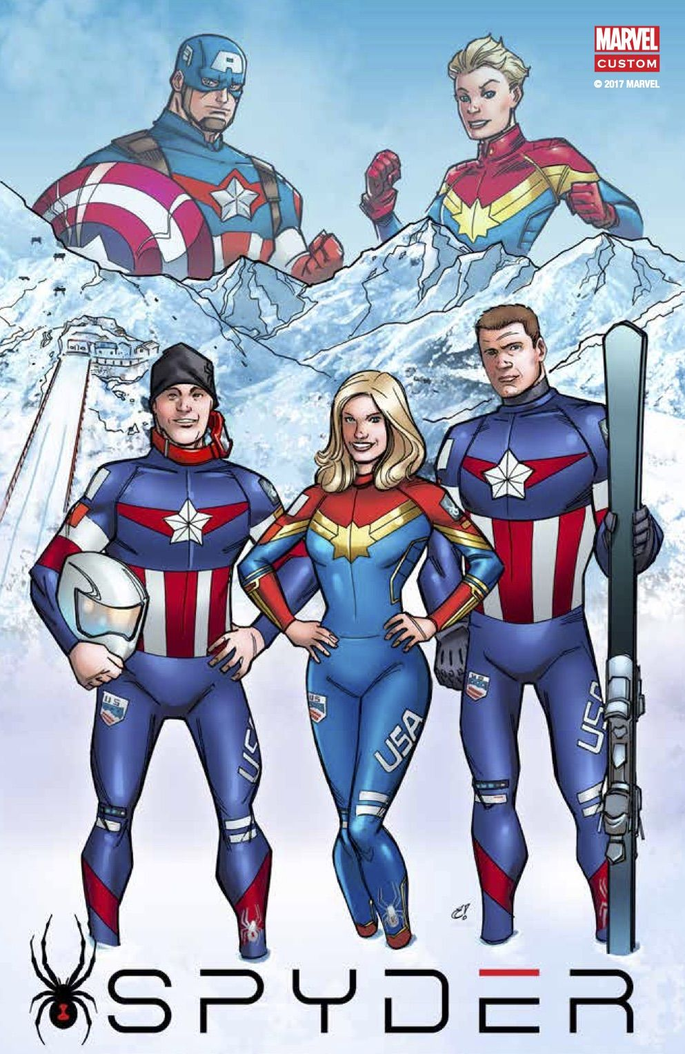 spyder marvel ski clothing collection | spyder ski wear | marvel