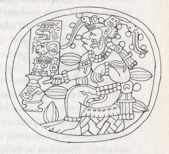 For Coloring Maya God Of Cacao Simbolos Mayas Cultura Maya