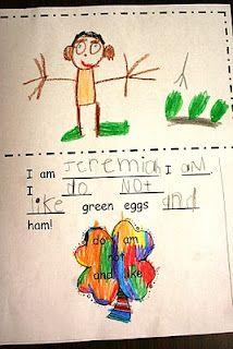 Green Eggs and Ham writing center idea