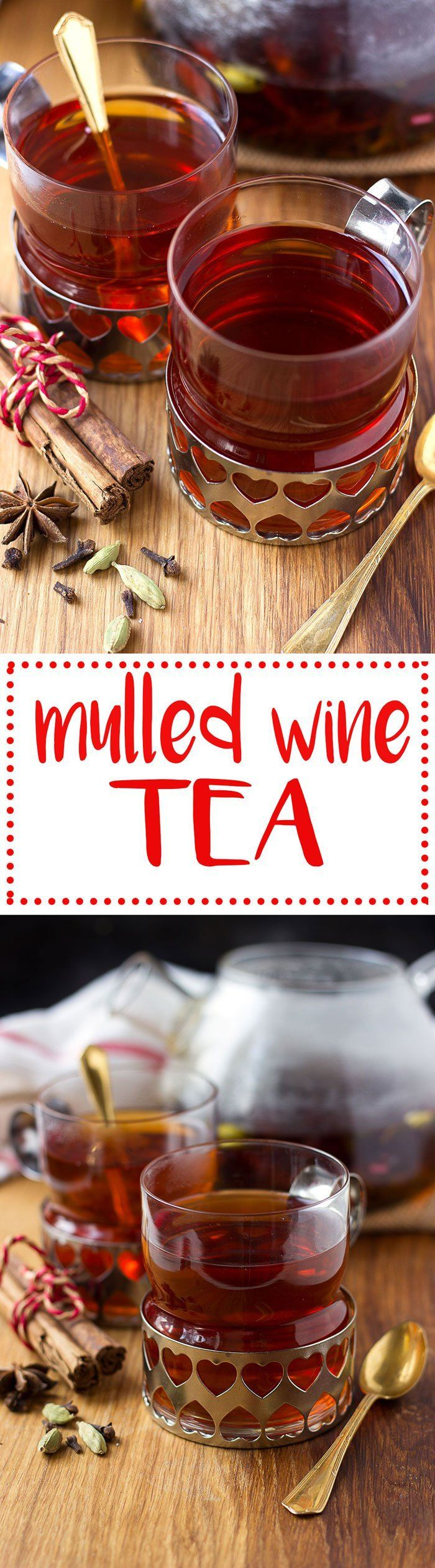 Mulled wine flavoured tea! A great non-alcoholic alternative for the holidays! #winetea #vinoplease