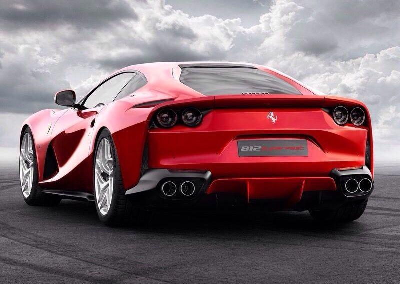 We love the rear of the Ferrari 812 Superfast. Ferrari has