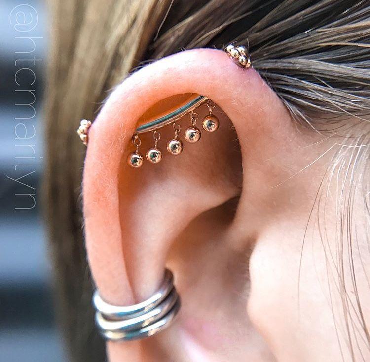 Prettiest Industrial Bvla Conch Piercing Ear Piercings Piercings Industrial Piercing Jewelry