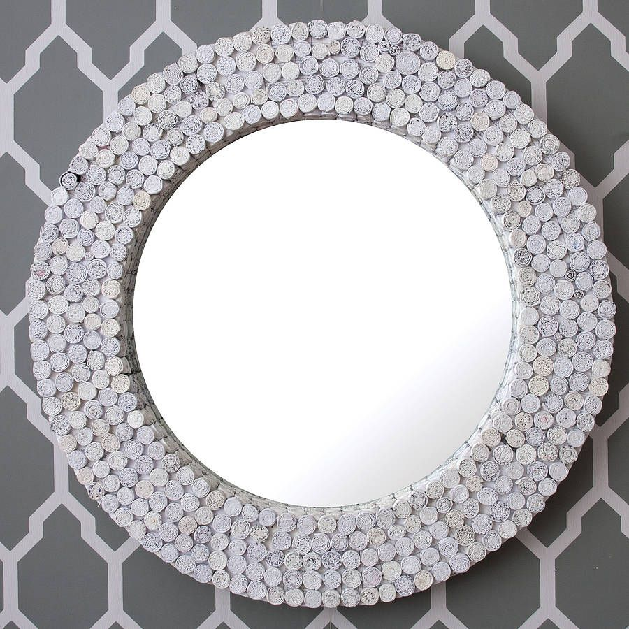 white round recycled mirrordecorative mirrors online