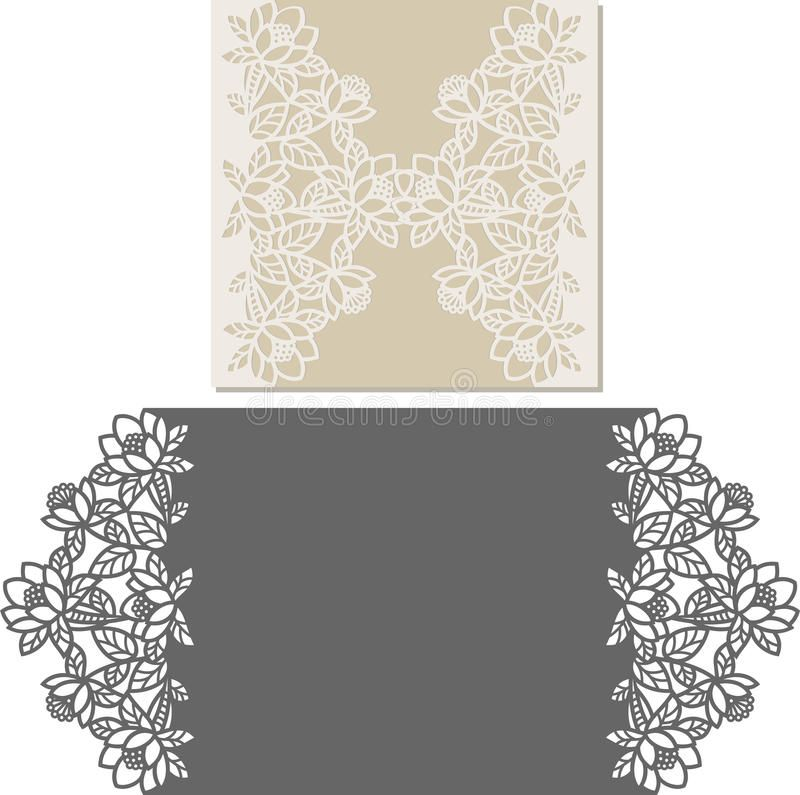 Download Laser Cut Envelope Template For Invitation Wedding Card