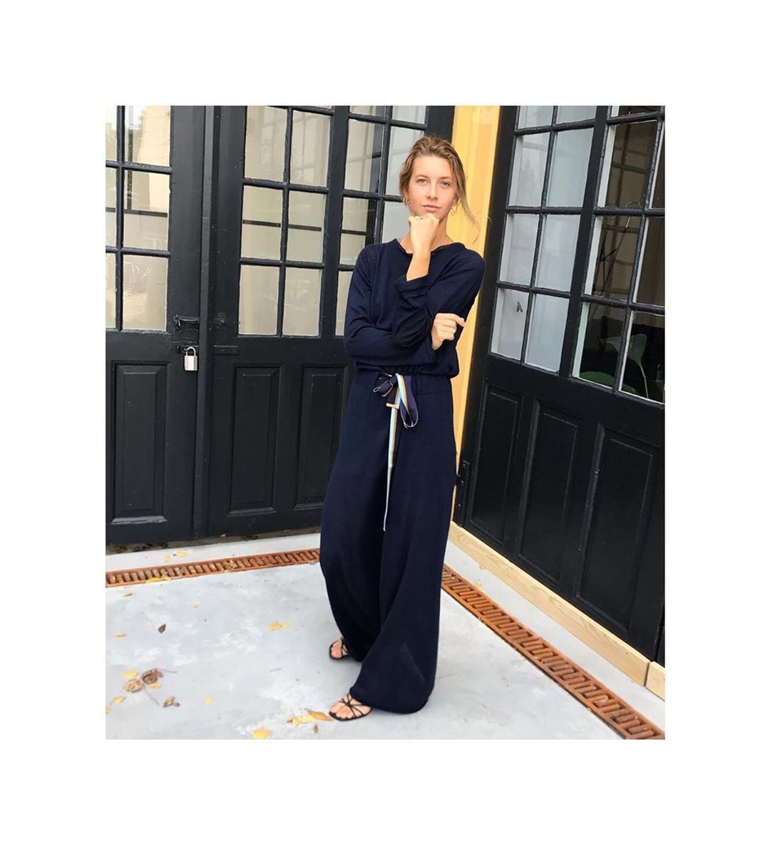 """Antonia Zander - The Team on Instagram: """"Nordic by nature! #beautiful @sofialynggaardn wearing our #knitteddress #madeinitaly #linen #cashmere #silk #danishstyle ❤️"""""""