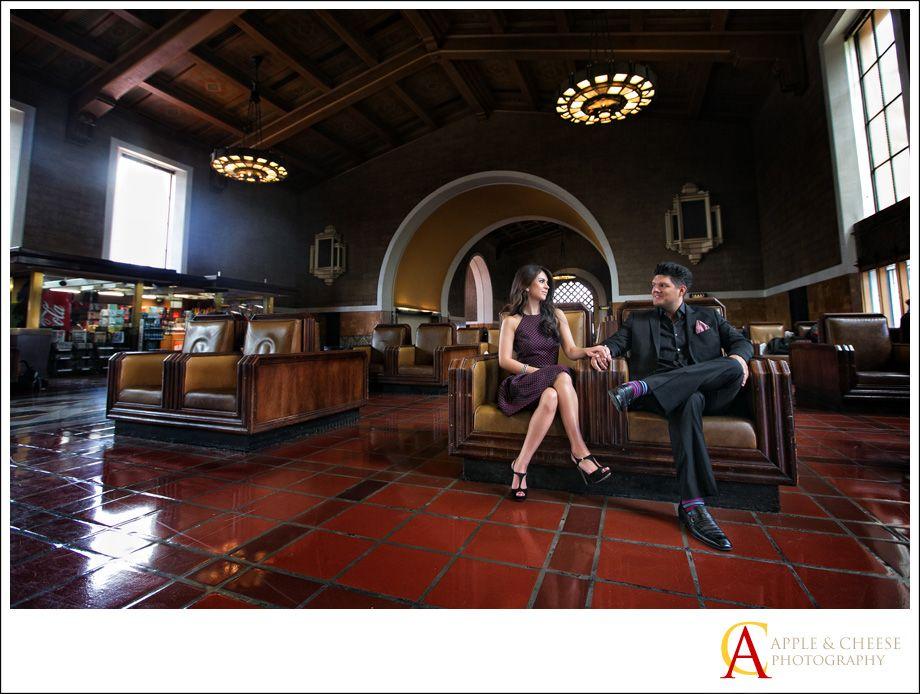 Los Angeles Union Station Engagement Session Hugo Sanaz