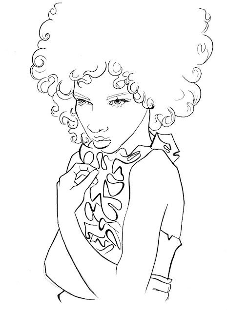 Natural hair art. Curly, afro, ebony, black, kinky, rasta, natural ...