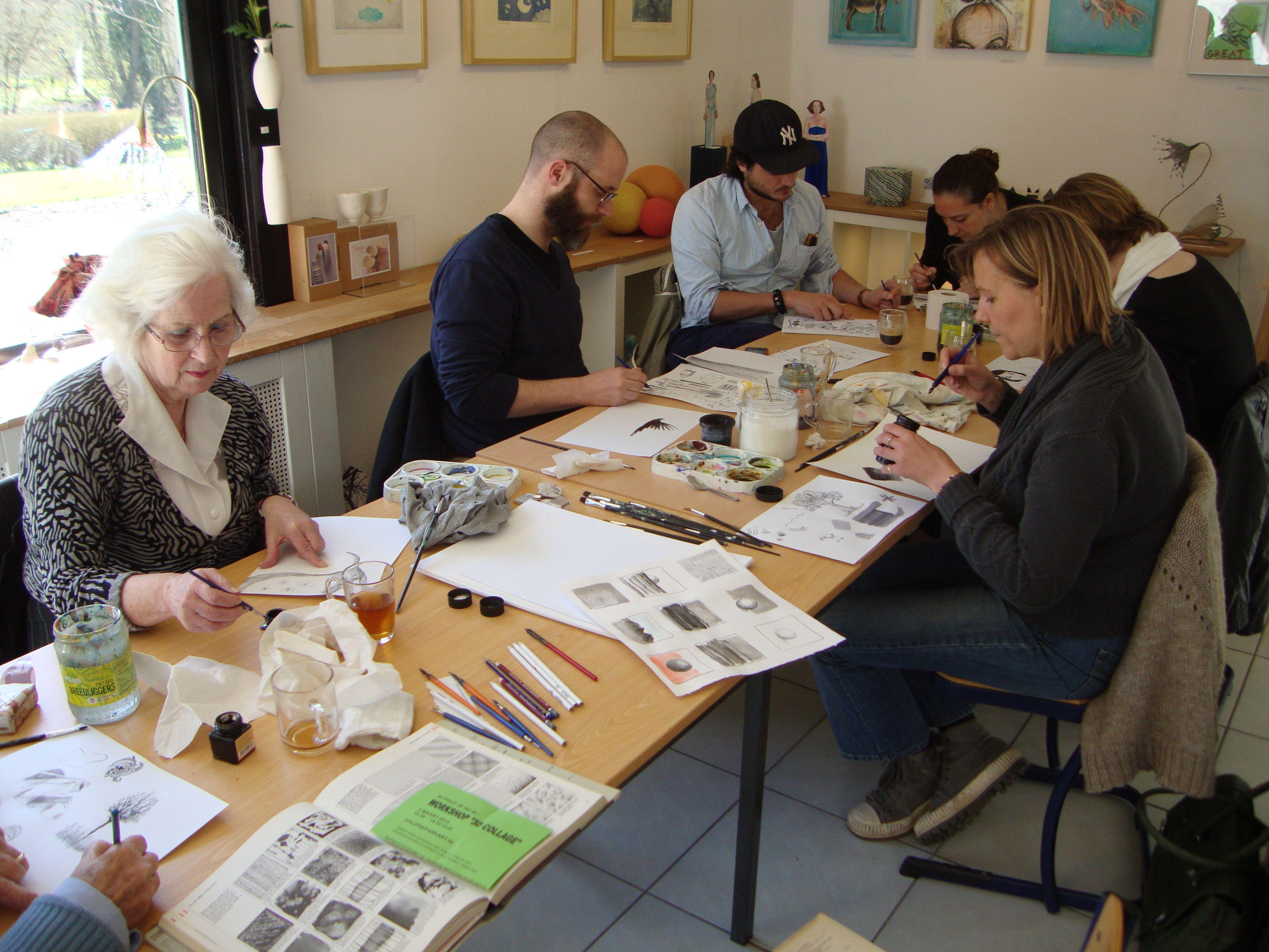 """workshop """"tekenen met inkt"""" 20 april 2013"""