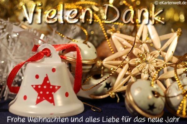Vielen Dank. Frohe Weihnachten und alles Liebe für das neue Jahr ...