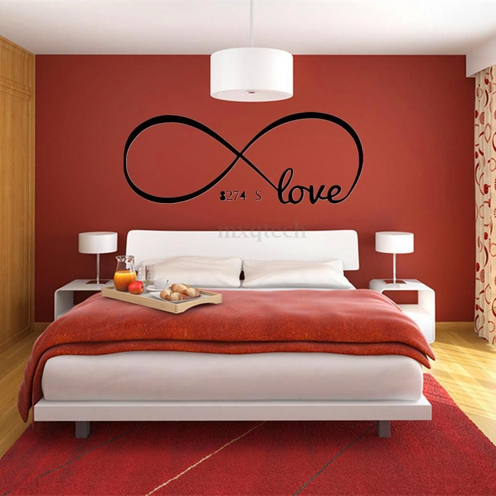 Cool Love Removable Wall Stickers Art Vinyl Quote Decal Mural Home Bedroom Decor Bedroom Decor For Couples Couple Bedroom Couple Room Bedroom design ideas pvc