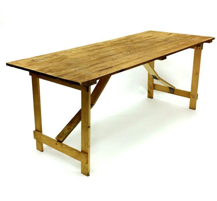 6 X 2 6 Rustic Trestle Table Hire Wooden Trestle Table Rustic Table Trestle Table