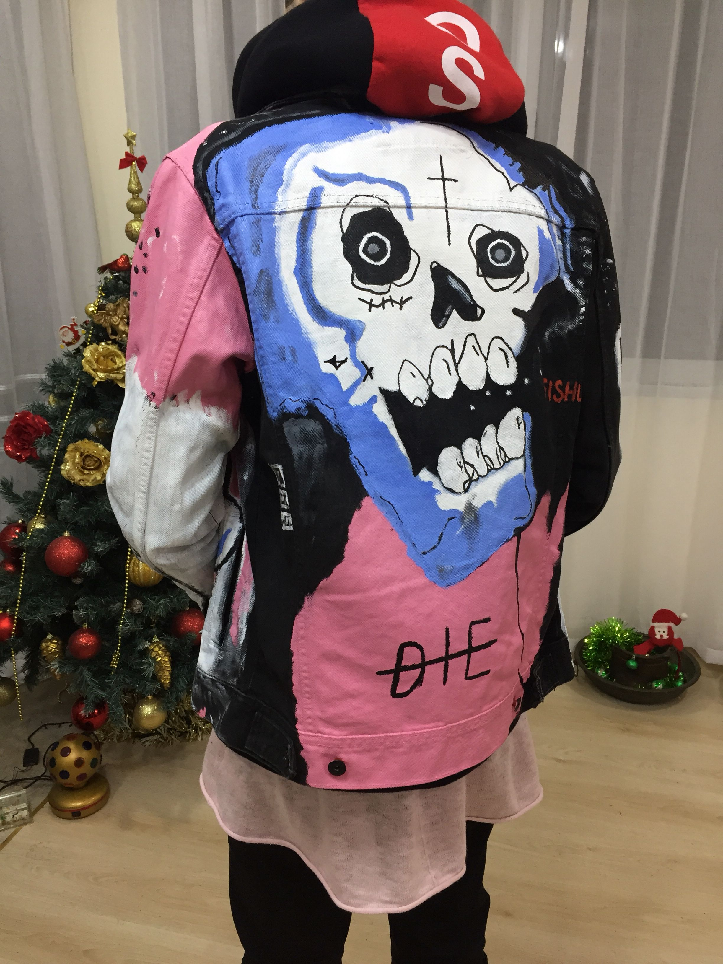 Never say die jacket lil peep inspiration rip peep