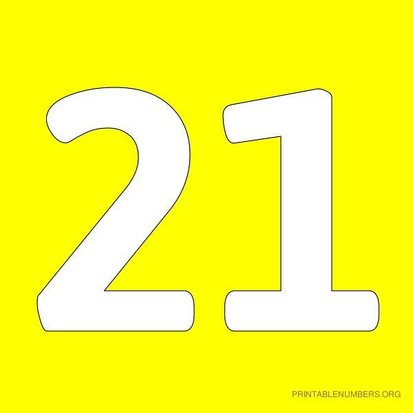 images of numbers 21   ... Number 19 Yellow Printable ...