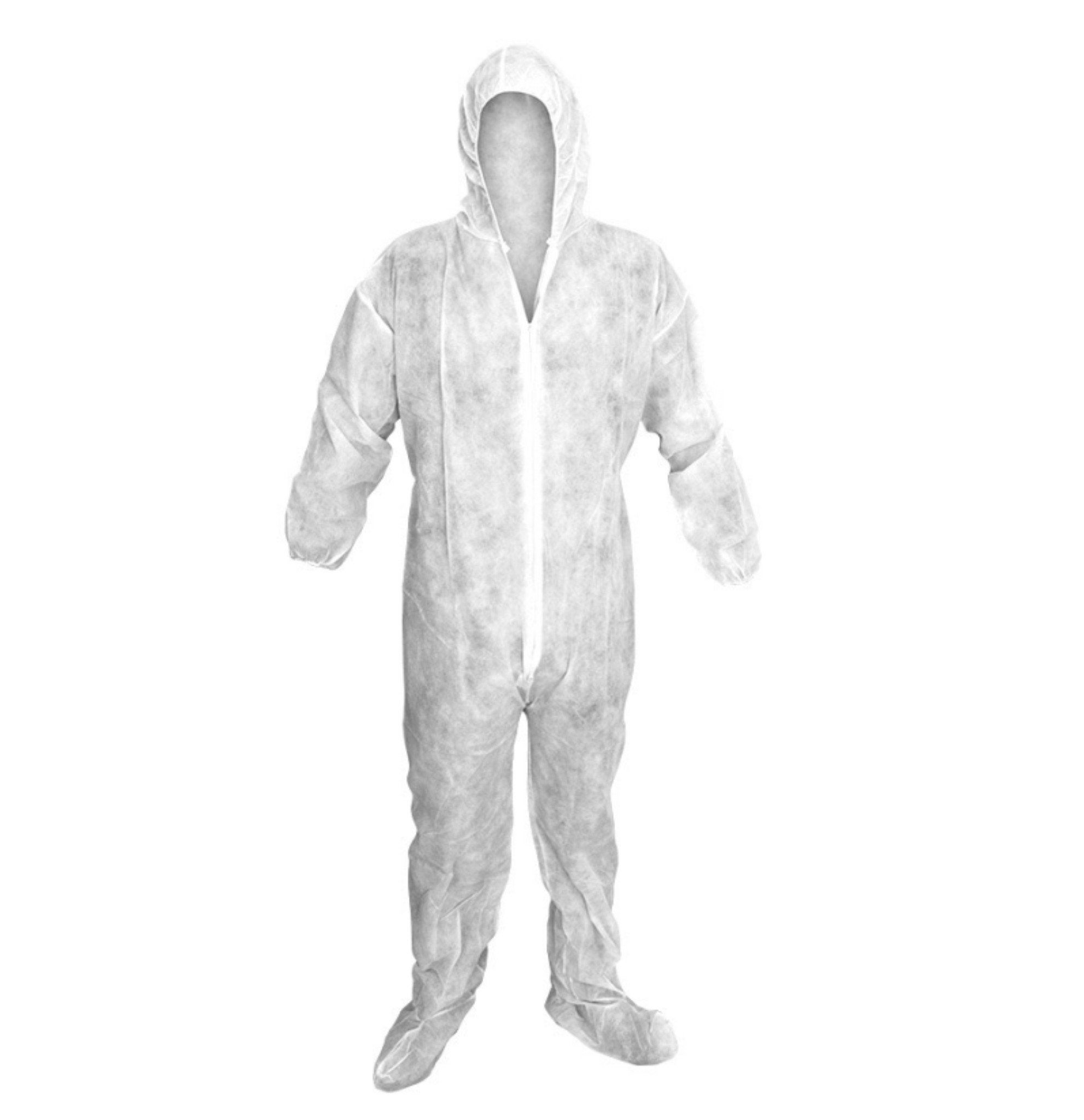 Polylite Disposable Full Body Coveralls - 50 Count